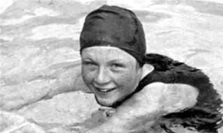 Inge Sørensen vandt guld i 200 meter brystsvømning ved EM i 1938.