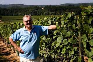 (Arkiv) Prins Henrik viser rundt på vinslottet Chateau de Cayx i 2006. Her mellem vinrankerne. (Foto: JEPPE MICHAEL JENSEN)