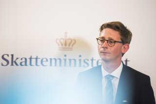 I august 2016 præsenterede skatteminister Karsten Lauritzen (V) planerne for fremtidens skattevæsen. (Foto: Ólafur Steinar Gestsson/Scanpix 2016)