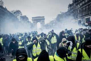 Protestbevægelsen 'De gule veste' har i månedsvis demonstreret hver weekend i Frankrig.