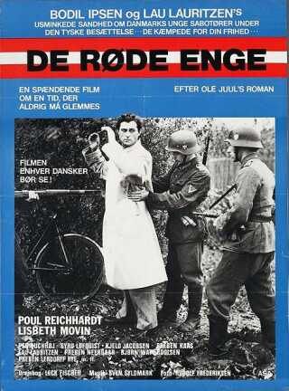 Filmplakat for 'De røde enge' fra 1945