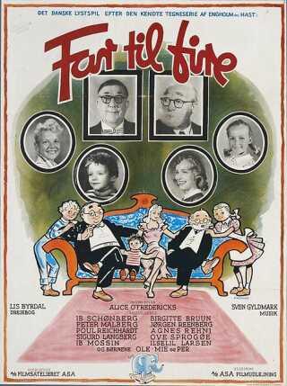 Filmplakat for 'Far til fire' fra 1953.