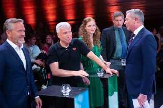 Kim Bildsøe Lassen ledte debatten, der blandt andet bød på spørgsmål fra publikum i salen.
