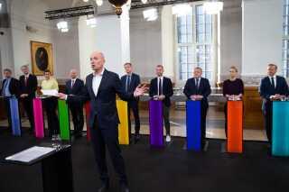 Ask Rostrup stod i spidsen i debatten, der for første gang i mange år havde 13 partier repræsenteret.
