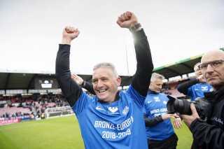 Esbjergs cheftræner John Lammers var også en tilfreds mand efter slutfløjtet i Herning.