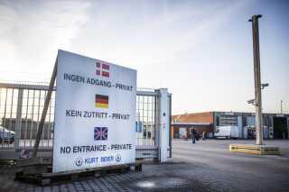 Politiet ryddede den 30. oktober containerlejren på Transportvirksomheden Kurt Beiers matrikel i Padborg.