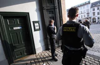 Politi uden for retssal 60 i Københavns Byret, hvor ubådssagen har kørt de fleste dage.