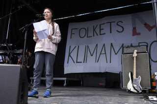 16-årige Greta Thunberg holdt tale her til eftermiddag i København.
