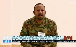 Efter kupforsøget i delstaten Amhara holdt premierminister Abiiy Ahmed en tv-tale iført militærtøj.