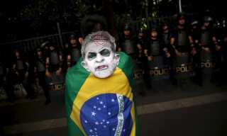 Denne demonstrant elsker med garanti ikke Lula da Silva.