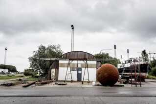 På Refshaleøen i København lå Peter Madsen værksted med navnet RaketMadsens Rumlaboratorium. Nu er lejemålet opsagt.