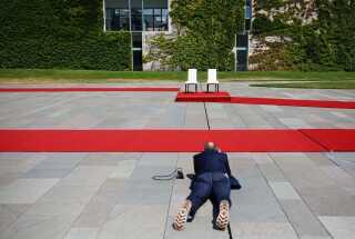 Dagens mest fotograferede stole, ifølge DR's korrespondent Ole Ryborg.