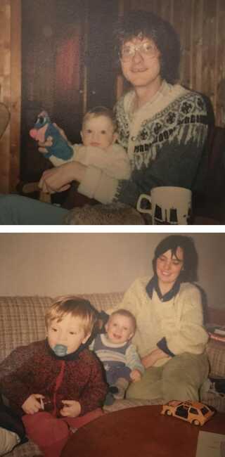 Efter moderens død tilbragte drengene også meget tid med deres morfar, som flyttede til Danmark for at være tættere på. (Privatfoto)