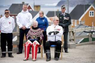 Regentparrets besøg i Grønland i 2015 i forbindelse med sommertogt med Kongeskibet Dannebrog.