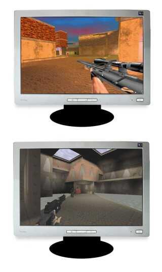 Øverst  'Navy Seals Quake' fra 1997 og nederst 'Action Quake 2' fra 1998.