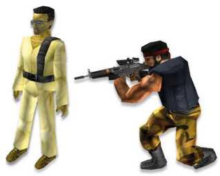Den første animation af en terrorist (tv) fik meget kritik. Den blev senere droppet - og andre kom til.