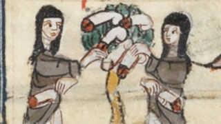 Fra digtet 'Roseromanen' ('Roman de la Rose'), Frankrig, 1200-tallet.