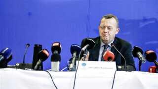 På et flere timer langt pressemøde sagde V-formand Lars Løkke Rasmussen blandt andet, at han ikke har modtaget diæter fra GGGI i 2012.