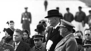 Franco med Dwight D. Eisenhower i Madrid i 1959.