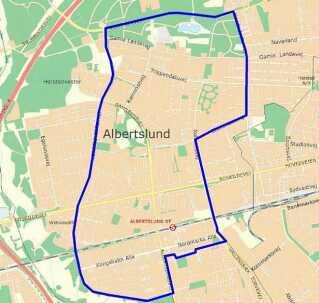 Visitationszone i Albertslund