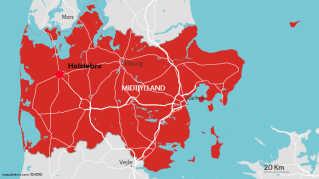 Jordskælvets epicenter var lige uden for Holstebro, oplyser Det geologiske datacenter Geus.