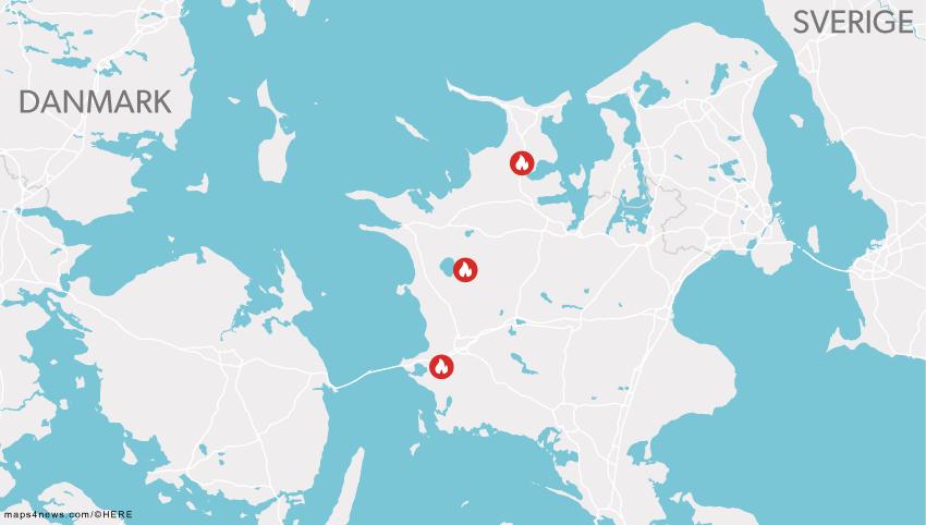 De tre mordbrande er sket i Vemmelev, Ruds Vedby og Odsherred.