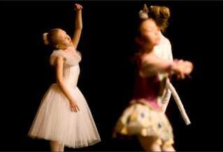 Sidsel til opvisning med balletskolen som barn.