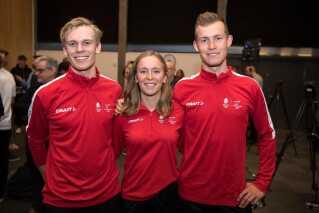 Danmarks tre speedskatere. Foto: Lars Møller for DIF og Team Danmark