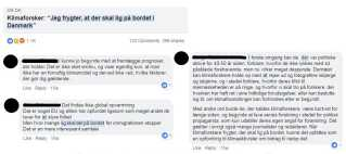 På DR Nyheders facebookside er der ofte gang i klimadebatten. En artikel fra juni fik for eksempel flere skeptikere til at kommentere på emnet. Her er nogle af kommentarerne.