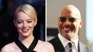 golden globe emma stone og the rock