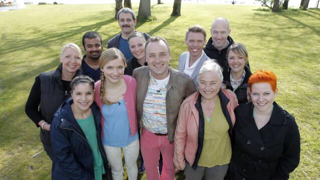 Billede af deltagerne fra 'Den store bagedyst 2012'