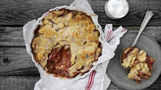 Billede af nem og lækker æblekage