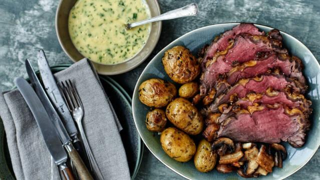 sefilet med bearnaise og kartofler