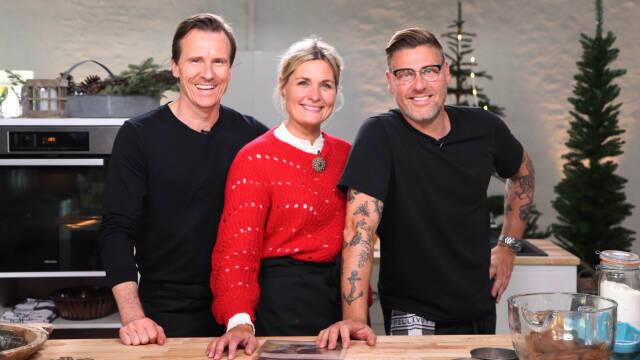 Timm, Markus og Katrine ved køkkebordet