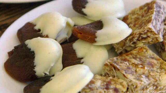 Abrikos med hvid chokolade