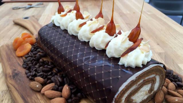 Roulade med kaffe, chokolade og likør