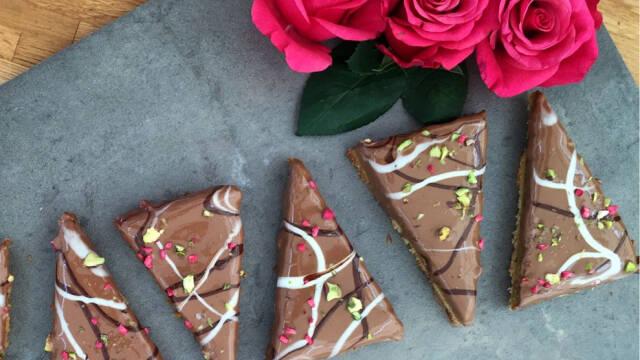 Snitter med chokolade og pistacie