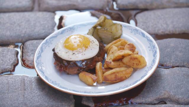 bøf og kartofler