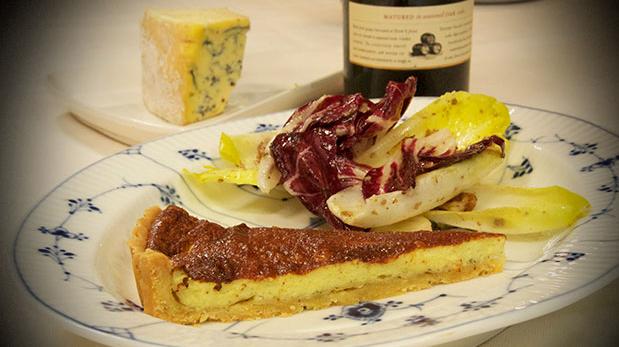 Billede af blå ostetærte