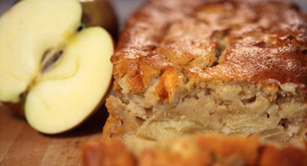 Billede af æblekage med kartoffel
