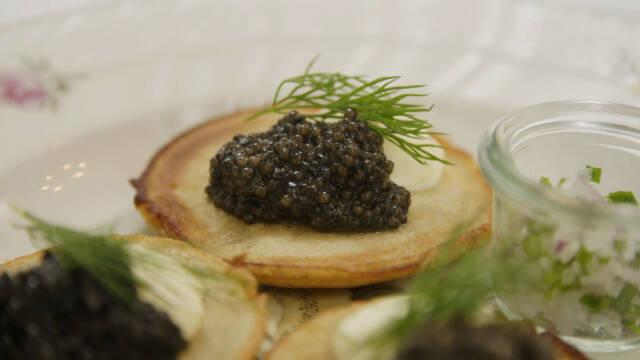 Blinis demidorf - blinis med kaviar