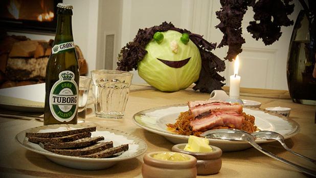 Billede af brunkål og flæsk med rugbrød