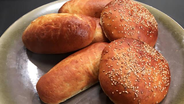 Brød til pølsebrød og burgere