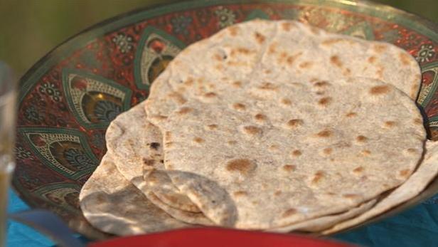 Billede af indiske chapati brød