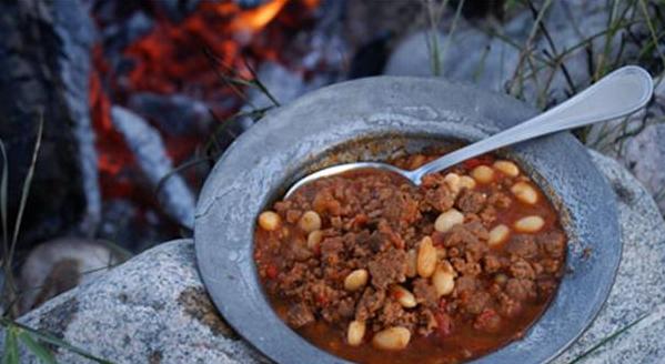 Billede af chili con carne med bønner serveret i skål