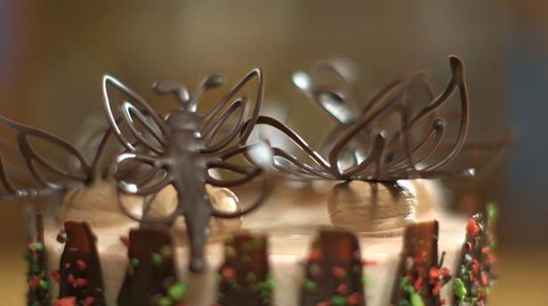Billede af chokoladesommerfugle