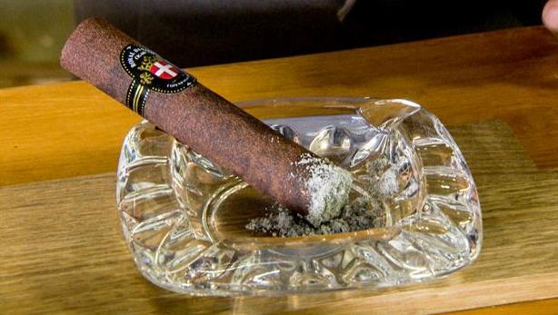 """Billede af """"Cigarer"""" med falsk aske og kakaosorbet"""