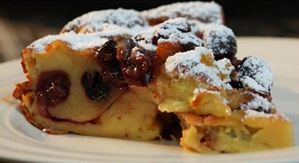 Billede af clafoutis (kirsebærtærte)