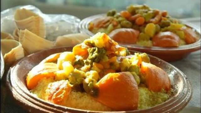 Billede af marokkansk couscous med lammekød