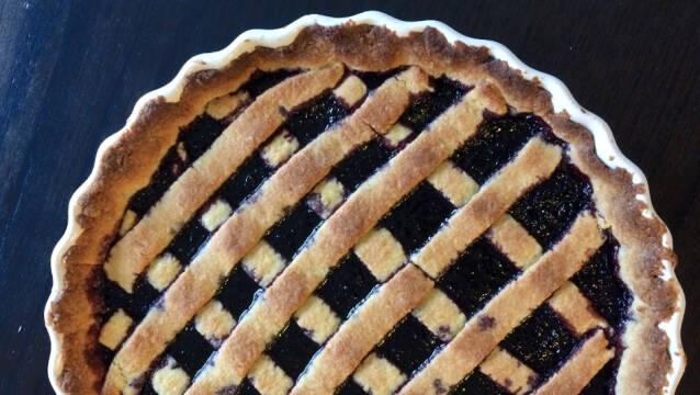 Italiensk brombærtærte
